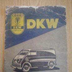 Coches y Motocicletas: DKW F89L MANUAL INSTRUCCIONES ORIGINAL.. Lote 45477386