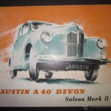 Coches y Motocicletas: CATALOGO DE COCHES - AUSTIN A 40 DEVON · SALOON MARK II - VER FOTOS . Lote 45481838