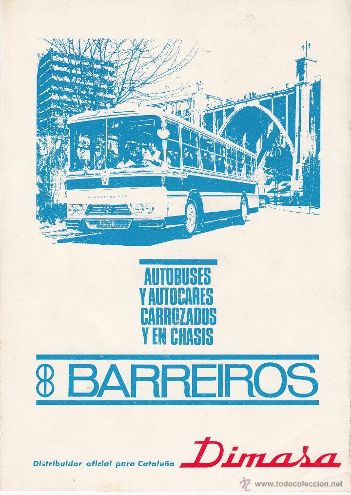 PUBLICIDAD REVISTA 1967 - BARREIROS AUTOBUSES Y AUTOCARES CARROZADOS Y EN CHASIS (Coches y Motocicletas Antiguas y Clásicas - Catálogos, Publicidad y Libros de mecánica)