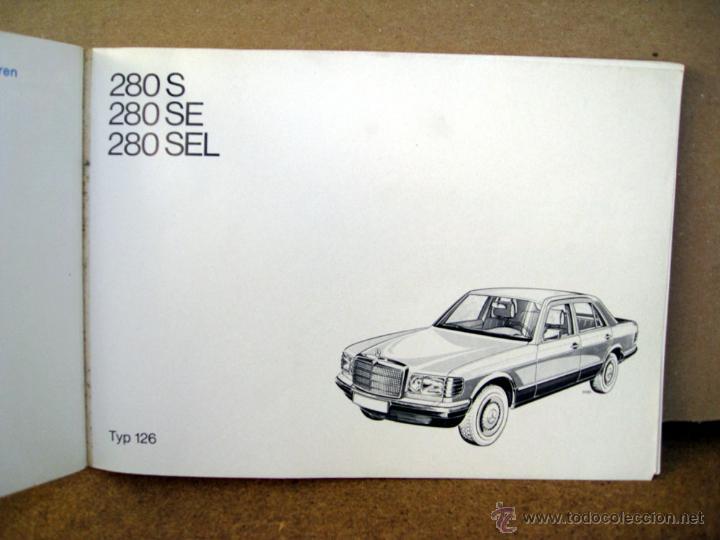 Coches y Motocicletas: MANUAL INSTRUCCIONES MERCEDES S W-126 DEL AÑO 1980 - Foto 2 - 45714076