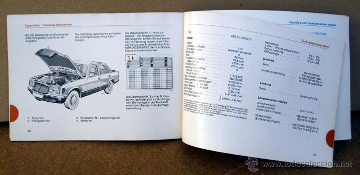 Coches y Motocicletas: MANUAL INSTRUCCIONES MERCEDES S W-126 DEL AÑO 1980 - Foto 3 - 45714076