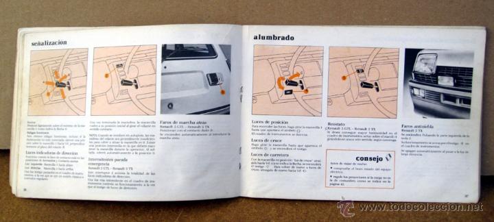 Coches y Motocicletas: MANUAL INSTRUCCIONES RENAULT 5 DEL AÑO 1982 - Foto 3 - 133859805