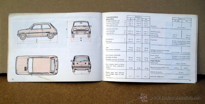 Coches y Motocicletas: MANUAL INSTRUCCIONES RENAULT 5 DEL AÑO 1982 - Foto 4 - 133859805