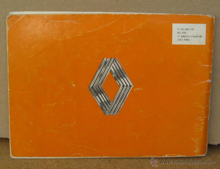 Coches y Motocicletas: MANUAL INSTRUCCIONES RENAULT 5 DEL AÑO 1982 - Foto 5 - 133859805