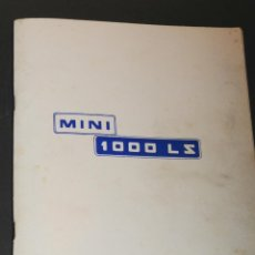 Coches y Motocicletas: CATALOGO MANUAL DEL CONDUCTOR MINI 1000 LS AÑO 1974. Lote 45799589