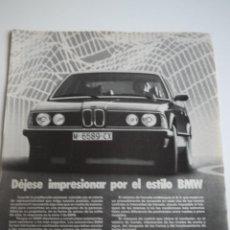 Coches y Motocicletas: LOTE 3 ANUNCIOS PUBLICITARIOS BMW SERIE 7 E23 ESPAÑA. Lote 45833929