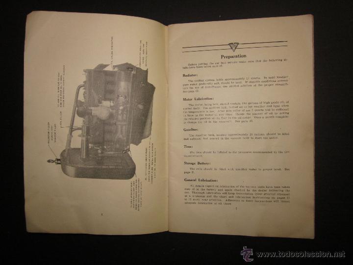 Coches y Motocicletas: HUDSON SUPER SIX - LIBRO INSTRUCCIONES - (V-1301) - Foto 3 - 45862533