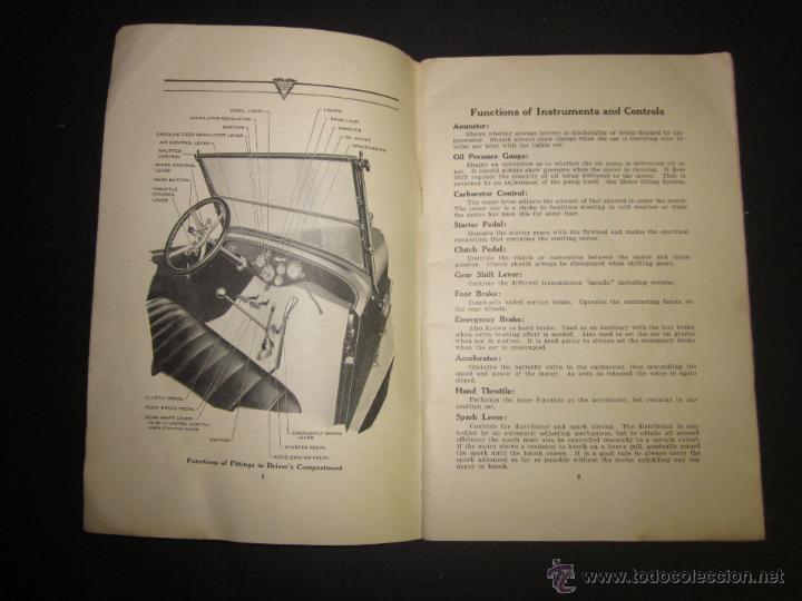 Coches y Motocicletas: HUDSON SUPER SIX - LIBRO INSTRUCCIONES - (V-1301) - Foto 4 - 45862533
