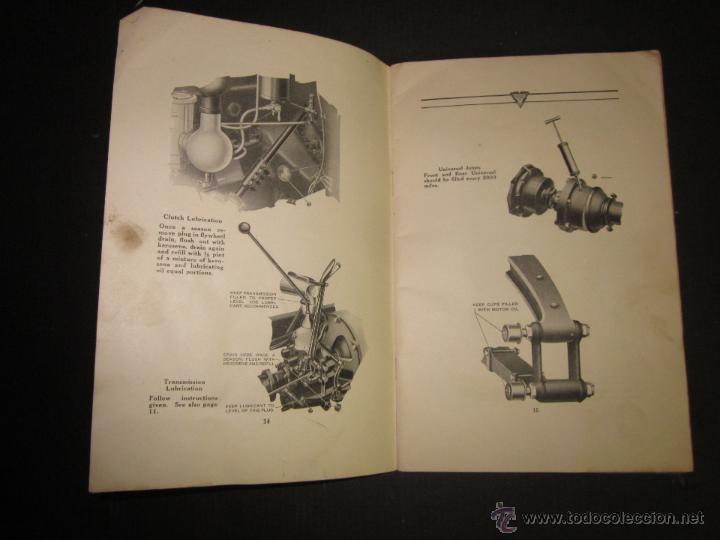Coches y Motocicletas: HUDSON SUPER SIX - LIBRO INSTRUCCIONES - (V-1301) - Foto 7 - 45862533
