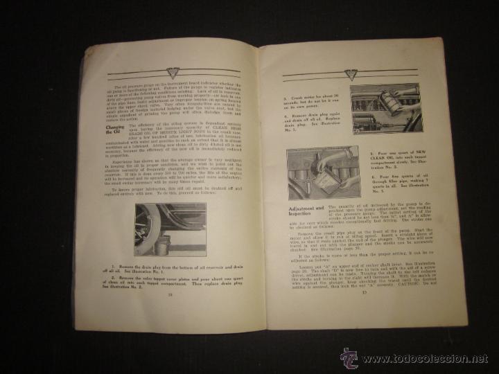 Coches y Motocicletas: HUDSON SUPER SIX - LIBRO INSTRUCCIONES - (V-1301) - Foto 8 - 45862533