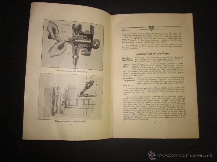 Coches y Motocicletas: HUDSON SUPER SIX - LIBRO INSTRUCCIONES - (V-1301) - Foto 9 - 45862533