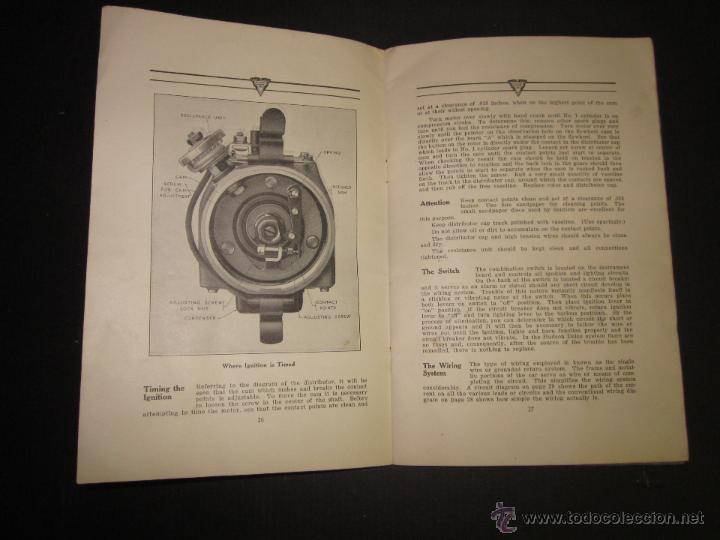 Coches y Motocicletas: HUDSON SUPER SIX - LIBRO INSTRUCCIONES - (V-1301) - Foto 11 - 45862533