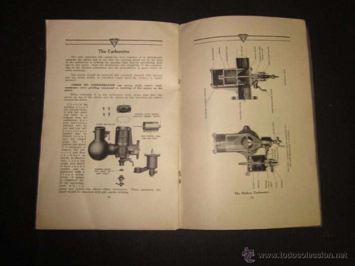 Coches y Motocicletas: HUDSON SUPER SIX - LIBRO INSTRUCCIONES - (V-1301) - Foto 15 - 45862533