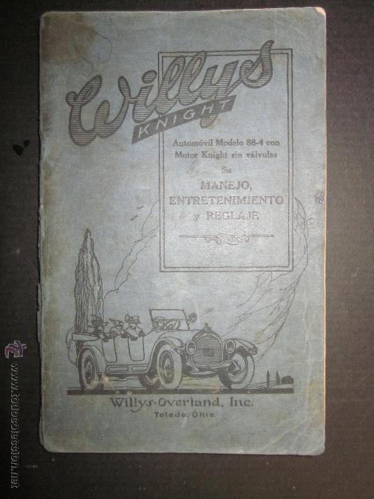 WILLYS - LIBRO INSTRUCCIONES - (V-1308) (Coches y Motocicletas Antiguas y Clásicas - Catálogos, Publicidad y Libros de mecánica)