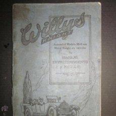 Coches y Motocicletas: WILLYS - LIBRO INSTRUCCIONES - (V-1308). Lote 45862737