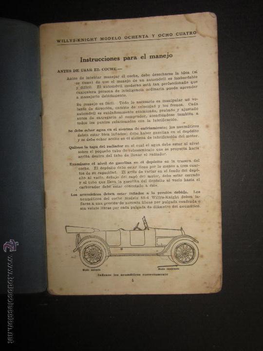 Coches y Motocicletas: WILLYS - LIBRO INSTRUCCIONES - (V-1308) - Foto 2 - 45862737