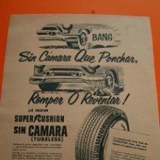Coches y Motocicletas: PUBLICIDAD REVISTA 1957 - GOODYEAR - PUBLICIDAD DE CUBA . Lote 45892249