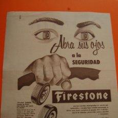 Coches y Motocicletas: PUBLICIDAD REVISTA 1957 - FIRESTONE - PUBLICIDAD DE CUBA . Lote 45892252