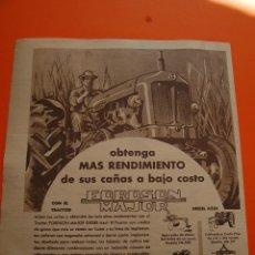 Coches y Motocicletas: PUBLICIDAD REVISTA 1957 - TRACTOR FORDSON MAJOR - PUBLICIDAD DE CUBA . Lote 45892270