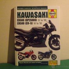 Coches y Motocicletas: KAWASAKI HAYNES SERVICE & REPAIR MANUAL EX500 (GPZ500S) '87 TO '99 ER500 (ER-5) '97 TO '99. Lote 45899351
