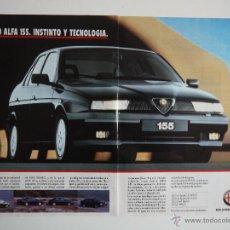 Coches y Motocicletas: ANUNCIO PUBLICITARIO ALFA ROMEO 155 AÑO 1994. Lote 45980377