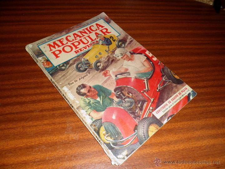 REVISTA MECÁNICA POPULAR. AGOSTO 1950 (Coches y Motocicletas Antiguas y Clásicas - Catálogos, Publicidad y Libros de mecánica)
