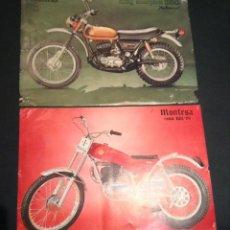 Coches y Motocicletas: LOTE HOJA FOLLETO CATALOGO MONTESA KING SCORPION 250 AUTOMIX Y COTA 123 / 74. Lote 46031418