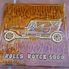 Coches y Motocicletas: ROLLS ROYCE 1909.EN RELIEVE.MEDIDAS;30X30CM.. Lote 46123965
