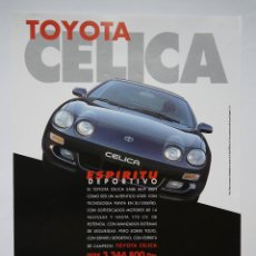 Carros e motociclos: ANUNCIO PUBLICITARIO TOYOTA CELICA 1996. Lote 46296018