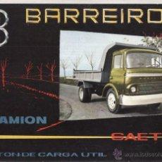 Coches y Motocicletas: CATALOGO PUBLICITARIO CAMION BARREIROS SAETA (FACSIMIL) IDIOMA ESPAÑOL 3 PAGINAS.. Lote 46372489