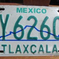 Coches y Motocicletas: MATRICULA DE COCHE AUTENTICA DE TLAXCALA,MEXICO AÑOS 1990´S. Lote 46490353