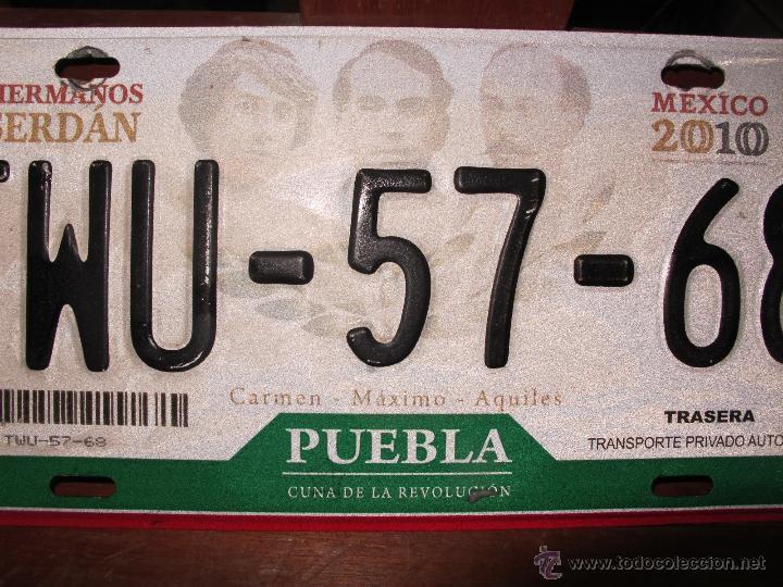 Coches y Motocicletas: MATRICULA DE COCHE AUTENTICA DE PUEBLA MEXICO AÑOS 2000´S - Foto 3 - 46504904