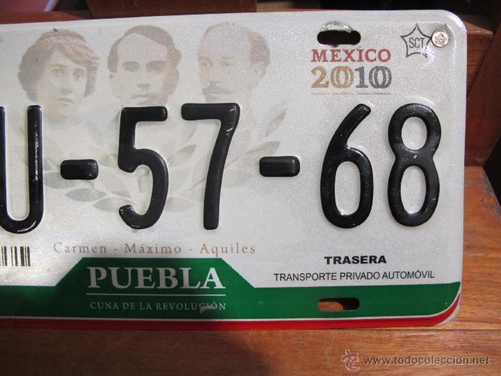 Coches y Motocicletas: MATRICULA DE COCHE AUTENTICA DE PUEBLA MEXICO AÑOS 2000´S - Foto 5 - 46504904
