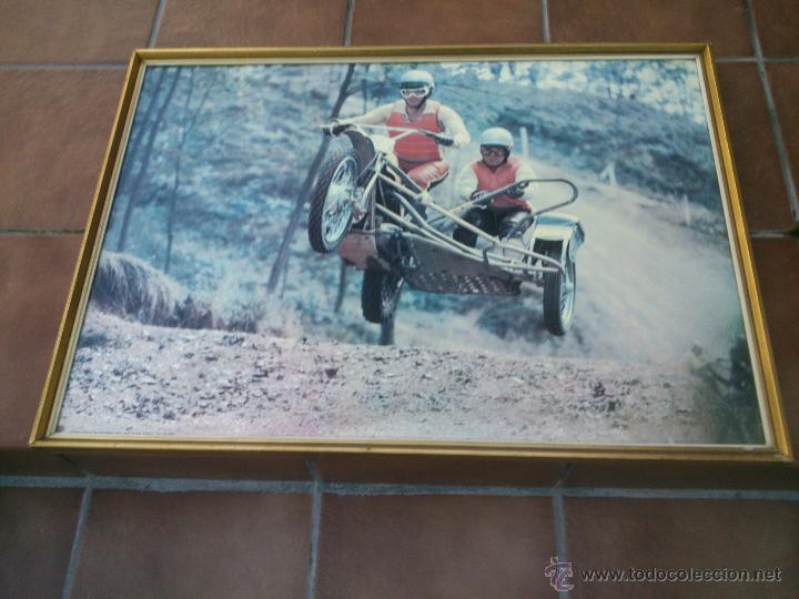 Coches y Motocicletas: POSTER ORIGINAL DE MOTOCROS.AÑOS 70S.ENMARCADO EN MADERA;90X67CM - Foto 5 - 46518120