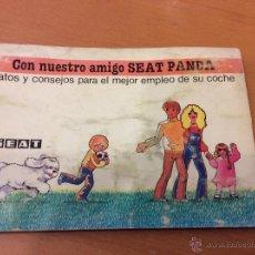 Coches y Motocicletas: SEAT PANDA MANUAL DE INSTRUCCIONES 1980. Lote 46525856
