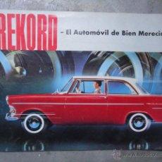 Coches y Motocicletas: CATALOGO TECNICO AUTOMOVIL OPEL REKORD DE GENERAL MOTORS AÑOS 50. Lote 46559739