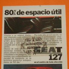 Coches y Motocicletas: PUBLICIDAD 1972 - COLECCION COCHES - SEAT - 127. Lote 46600640
