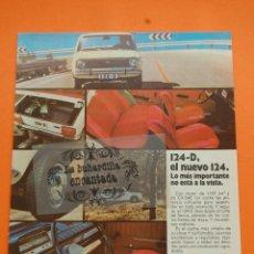 Coches y Motocicletas: PUBLICIDAD 1971 - COLECCION COCHES - SEAT - 124-D. Lote 46600968