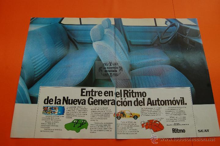 PUBLICIDAD 1979 - COLECCION COCHES - SEAT - RITMO DOBLE PAGINA (Coches y Motocicletas Antiguas y Clásicas - Catálogos, Publicidad y Libros de mecánica)