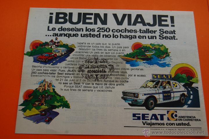 PUBLICIDAD 1979 - COLECCION COCHES - SEAT - ASISTENCIA EN CARRETERA (Coches y Motocicletas Antiguas y Clásicas - Catálogos, Publicidad y Libros de mecánica)