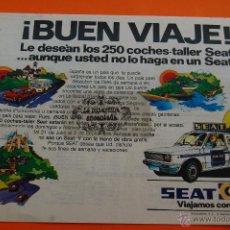 Coches y Motocicletas: PUBLICIDAD 1979 - COLECCION COCHES - SEAT - ASISTENCIA EN CARRETERA. Lote 46601040