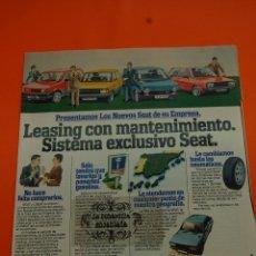 Coches y Motocicletas: PUBLICIDAD 1981 - COLECCION COCHES - SEAT - SEAT LEASING . Lote 46601058