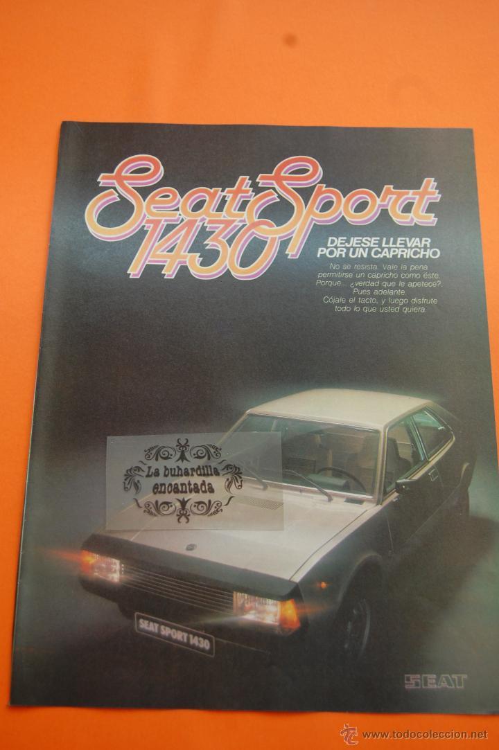 PUBLICIDAD 1979 - COLECCION COCHES - SEAT - SPORT 1430 (Coches y Motocicletas Antiguas y Clásicas - Catálogos, Publicidad y Libros de mecánica)