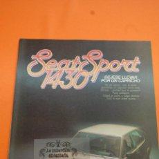 Coches y Motocicletas: PUBLICIDAD 1979 - COLECCION COCHES - SEAT - SPORT 1430. Lote 46601079