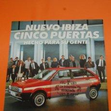 Coches y Motocicletas: PUBLICIDAD 1987 - COLECCION COCHES - SEAT - IBIZA. Lote 46601147