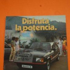 Coches y Motocicletas: PUBLICIDAD 1982 - COLECCION COCHES - TALBOT - SAMBA SPORT. Lote 46601302
