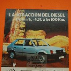 Coches y Motocicletas: PUBLICIDAD 1982 - COLECCION COCHES - TALBOT - HORIZON DIESEL. Lote 46601307