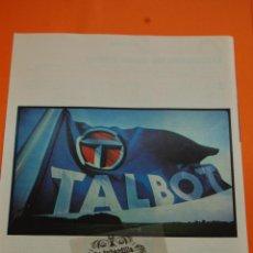 Coches y Motocicletas: PUBLICIDAD 1979 - COLECCION COCHES - TALBOT - . Lote 46603340