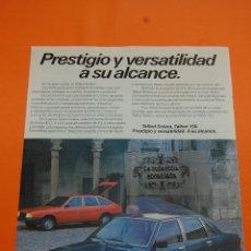 Coches y Motocicletas: PUBLICIDAD 1982 - COLECCION COCHES - TALBOT - SOLARA Y 150. Lote 46603501