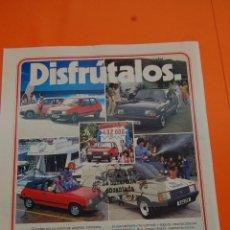 Coches y Motocicletas: PUBLICIDAD 1983 - COLECCION COCHES - TALBOT - SAMBA CABRIOLET RALLYE SPORT. Lote 46603602